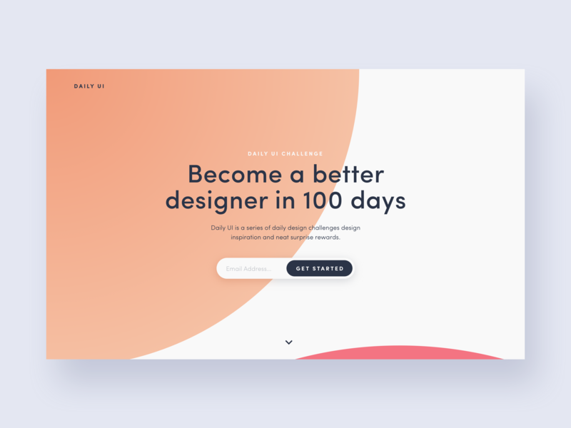 UI Daily,  #100 – Redesign Daily UI Landing Page redesign landing page promo typography dailyui uidaily ui design
