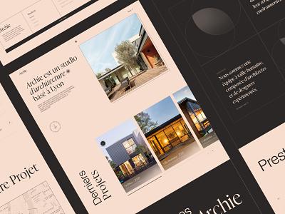 Architecture Studio Website Concept - Archie buildings ui serif font webdesign ui design sketch architect architecture