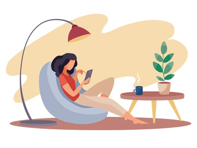 Freelancer people business flat character concept illustrator design art vector illustration
