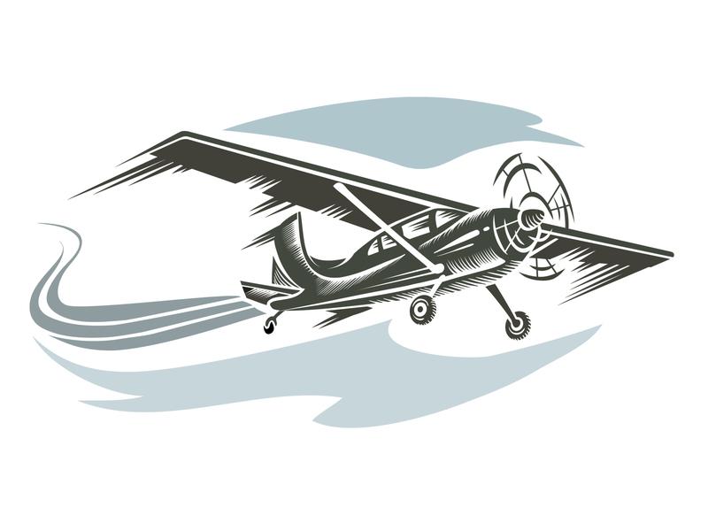 Aircraft logo illustrator design art vector illustration