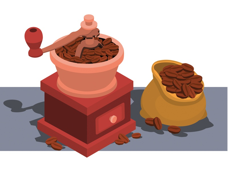 coffee coffee shop isometric infographics illustrator design art vector illustration coffee