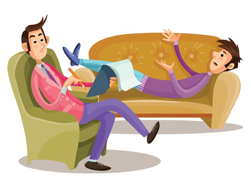 Psychologist people business flat character concept illustrator design art vector illustration