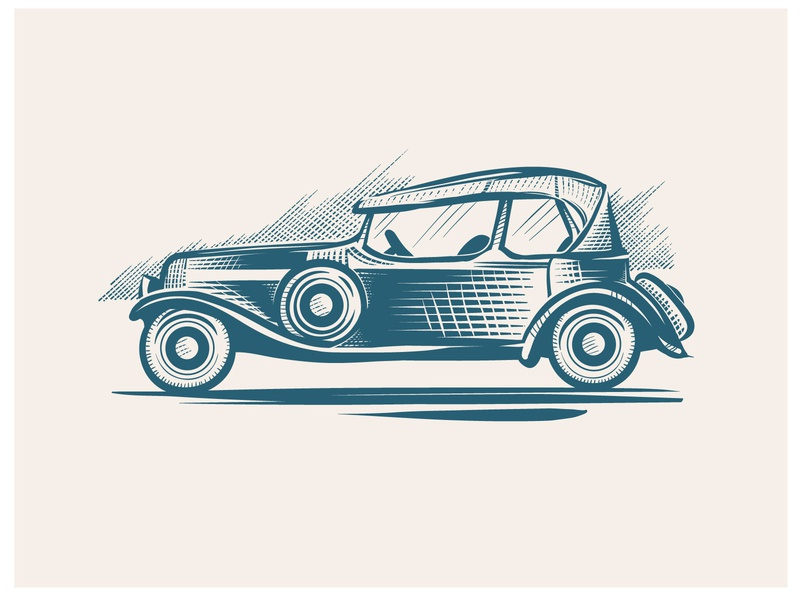 Retro Car graphic retro car branding logo illustrator design art vector illustration