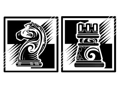 Chess print branding logo illustrator design art illustration vector