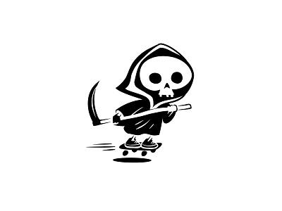 Death on a Skateboard flat branding character logo illustrator design art illustration vector