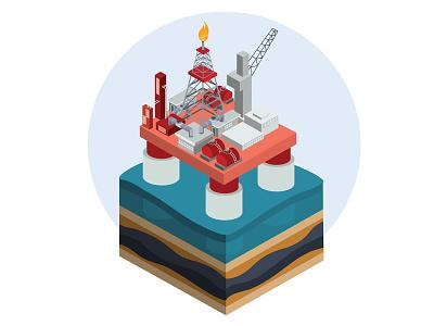 Oil Platform icon business isometric infographics concept illustrator art design vector illustration energy resources fuel oil drilling rig oil platform