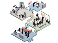 Business Office Isometric