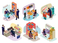 Isometric People In The Office