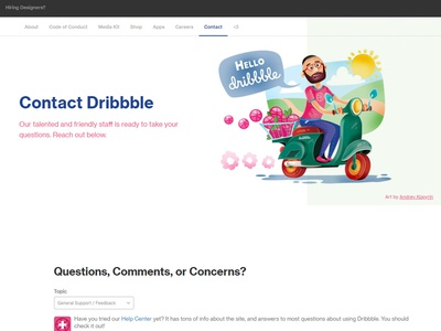 Illustration for Contact Dribbble