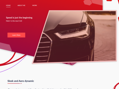 Car website design concept