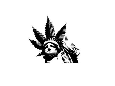 Liberty CBD Logotype branding marijuana cbd weed illustration logotype design negative space logo logo design negative space logotype brand logo