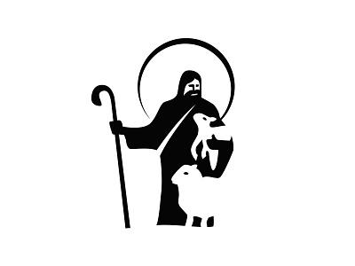 Pastor Shepherd Logotype branding graphic design hope grace faith community reverend spiritual shepherd pastor jesus blessed parayer christian baptist bible church god logo religion