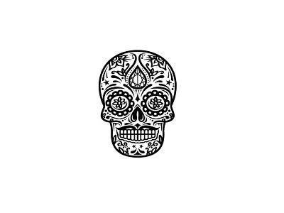 kalaˈβera Logo Design mex mexican skeleton dead skull logo
