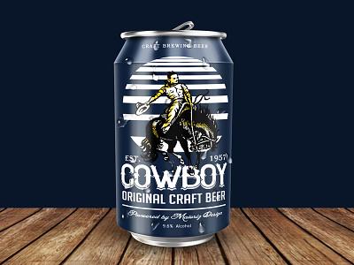 American Cowboy Craft Beer american cowboy craft template branding brand drink packaking beer logotype logo