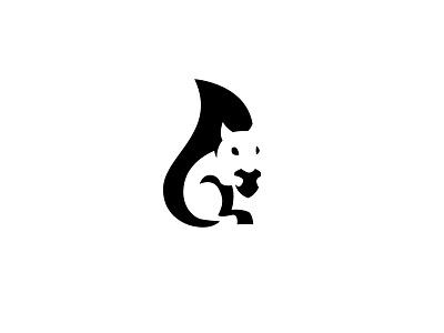 Squirrel Logotype black designer logo design squirrel logo design branding brand animal squirrel negative space logo negative space logo