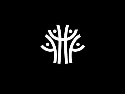 Team Tree Logotype design icon branding tree family logo team logo