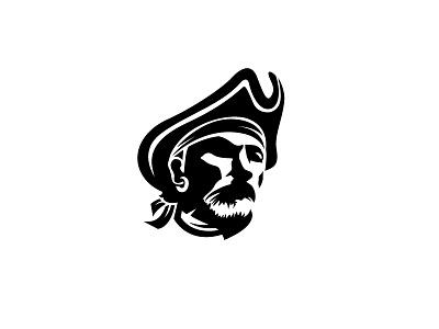Pirate Brand Logotype negative space logo face logo branding brand team sport negative space logo pirates pirate