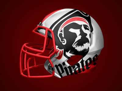 Pirates Logotype helmet futbol brand and identity negative space brand sport app sport club sport