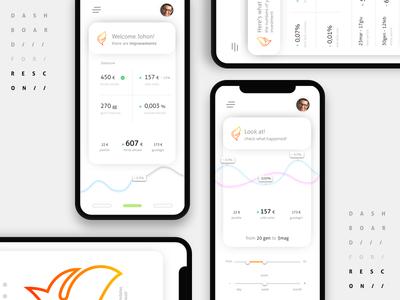 Mobile Dashboard UI app mobile uidesign uxdesign design userinterface userexperience ux ui dashboard