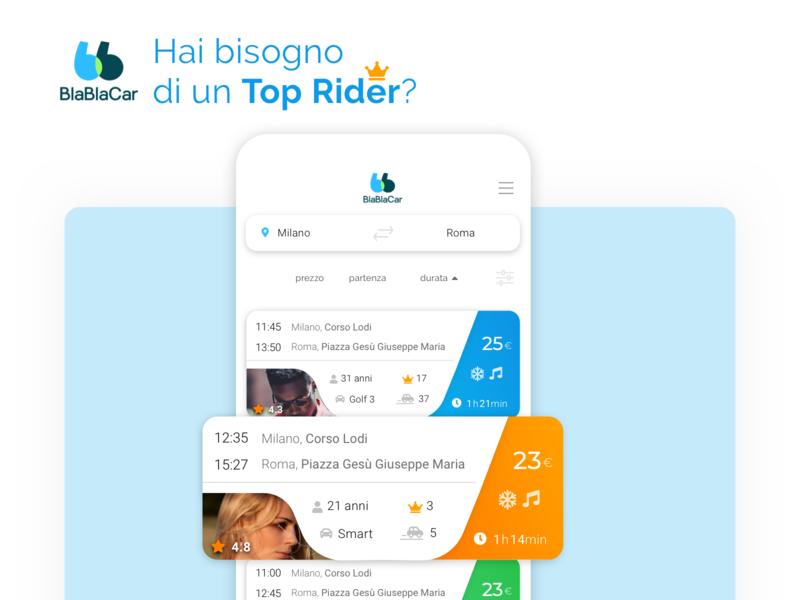 Blabla Restyling user interface mobile ui ui
