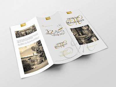 Champagne Mennetrier Depliant 3 volets trifold brochure leaflet graphic design design