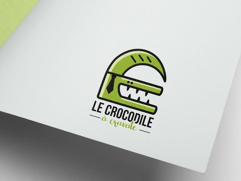 Le crocodile à cravate crocodile animal vector illustration branding graphic design logo logotype
