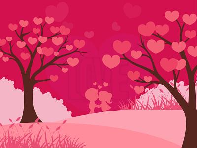Love is in the air hearts loveinair pink love dribbbleweeklywarmup website design graphics design visual design ui  ux design design branding design agency landing page concept concept creative  design