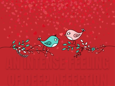 an intense feeling of deep affection. dribbbleweeklywarmup community design challenge love concept design clear design graphics design visual design branding design agency design landing page concept concept creative  design