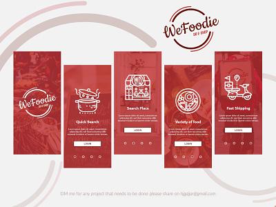 WeFoodie Mobile App Design app design ui  ux design branding visual design design agency concept creative  design food app design design app minimalist design clear design mobile app design uiux design