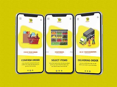 Delivery Order Screens graphics design concept design clear design app design design ui  ux design visual design branding design agency creative  design