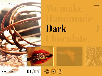 Dark chocolate website template