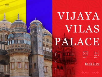 Vijaya Vilas Palace design design agency heritage art visual design visualization ui design design process problem solving design thinking ui  ux design landing page concept creative  design concept ui