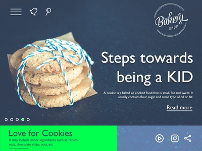 Landing page concept for cookies brand