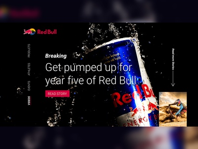 RedBull - Landing page Design Concept