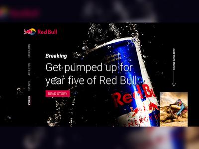 RedBull - Landing page Design Concept