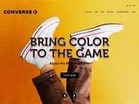 Converse Lading Page Design