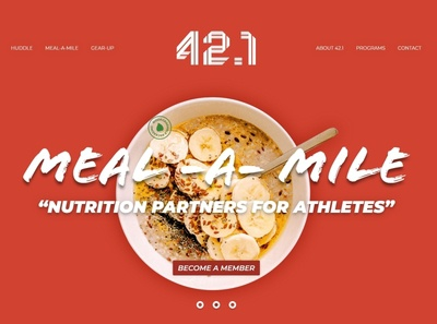 Landing page concept for the 42point1