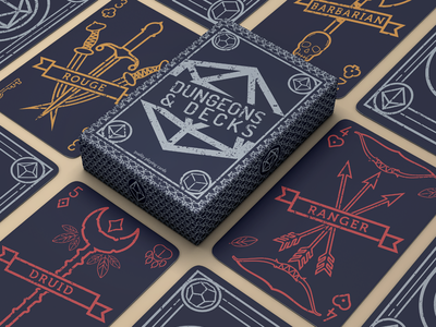 Dungeons & Decks Cards playing cards dungeons and dragons digital branding graphic design