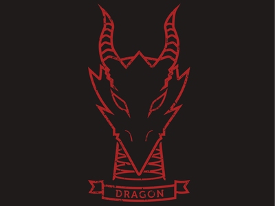 Dragon chromatic red dragon dragon ttrpg dungeons and dragons digital art design art digital graphic design