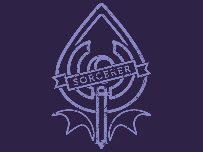 Sorcerer sorcerer ttrpg dungeons and dragons digital art design art digital graphic design