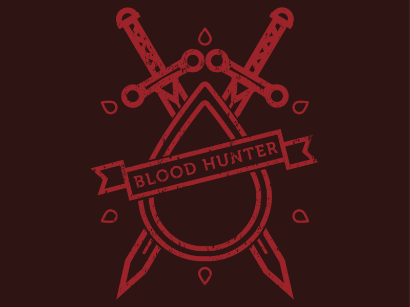 Blood Hunter blood hunter blood hunter ttrpg dungeons and dragons digital art design art digital graphic design