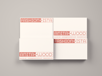 Business Cards for Fashionista fashionista thirty logos logo branding graphic design