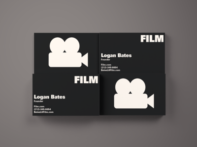 Film Business Cards film thirty logos logo branding graphic design