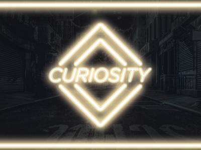 Curiosity neon graphic design design learning knowledge curiosity