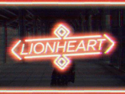 Lionheart determined brave neon graphic design design lionhearted lionheart