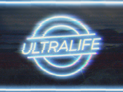Ultralife graphic design design life glitch neon fulfilled ultralife