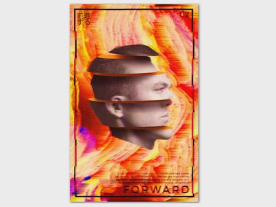 Forward forward design glitch graphic design