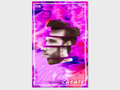 Create design art create glitch graphic design
