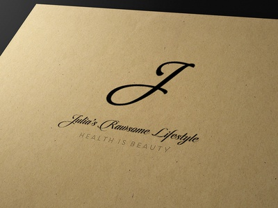 Julia Rawsome Logo 2 logotype business card graphic design logo