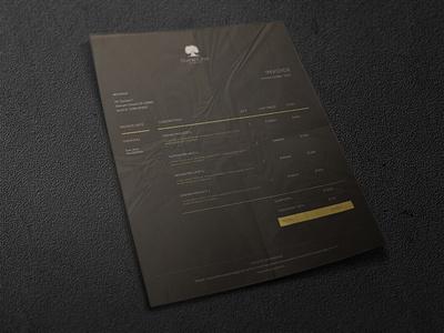 Invoice invoice design invoice branding graphic design